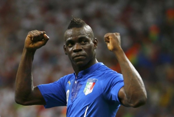 Italian phenom Mario Balotelli is my new favorite player. (Only partially because I like his mohawk.)