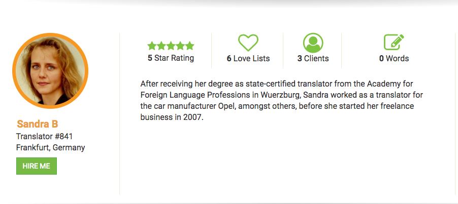 Talent Q & A: Translator Sandra B